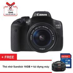 Ôn Tập Canon Eos 750D 24 2Mp Va Lens Kit 18 55Mm Is Stm Đen Hang Phan Phối Chinh Thức Tặng Thẻ Nhớ 16Gb Va Tui May Ảnh Canon Trong Hồ Chí Minh