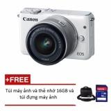 Canon Eos M10 18Mp Với Lens Kit Ef M 15 45Mm Tặng 1 Thẻ 16Gb Va 1 Tui Đựng May Ảnh Chinh Hang Rẻ