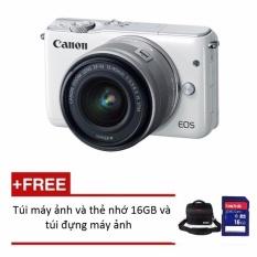 Canon Eos M10 18Mp Với Lens Kit Ef M 15 45Mm Tặng 1 Thẻ 16Gb Va 1 Tui Đựng May Ảnh Chinh Hang Chiết Khấu Hà Nội