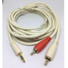 Cáp 3.5 ra hoa sen (RCA) cao cấp dài 3m, dây đồng, jack mạ vàng 24k