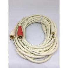 Cáp 3.5 ra hoa sen (RCA) cao cấp dài 5 mét, dây đồng nguyên chất