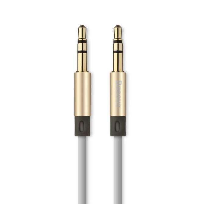Hình ảnh Cáp âm thanh 3.5mm Baseus Fluency Series 1.2m (Vàng)