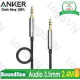 Giá Bán Cap Am Thanh Anker 3 5Mm Soundline Audio Cable Dai 2 4M Anker