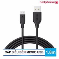 Giá Bán Cap Anker Powerline Micro Usb 6Ft 1 8M Đen Hang Phan Phối Chinh Thức Có Thương Hiệu