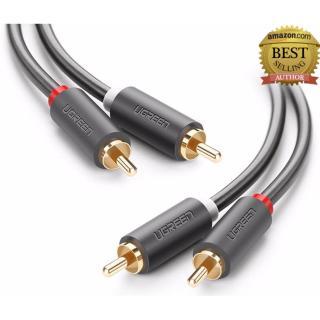 Cáp Audio 2 đầu RCA dài 1.5m UGREEN AV104 10517 (Đen) thumbnail
