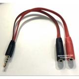 Cáp chuyển 3.5mm (Đực) ra 2 đầu audio và micro (Cái ) dùng cho tai nghe (Đen đỏ)