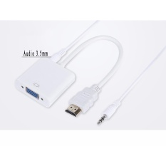Hình ảnh Cáp chuyển đổi HDMI to VGA Adapter Audio 3.5 mm
