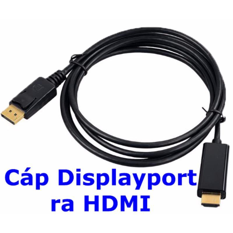 Bảng giá Cáp Displayport ra HDMI dài 1m8 (Đen) Phong Vũ