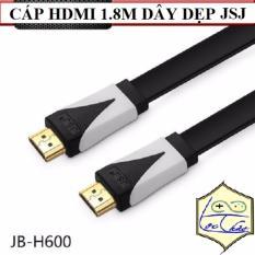 Cáp HDMI dài 1.8M JSJ Dây dẹp dẻo Hỗ trợ 3D, 4K