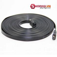 Dây cáp truyền tín hiệu HDMI FULL HD 5m dẹp (Đen) - Hàng nhập khẩu