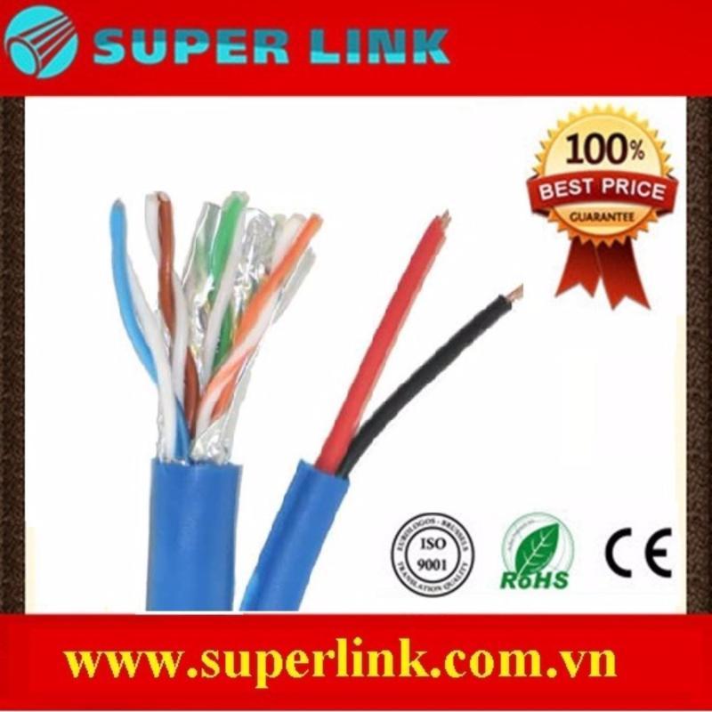 Bảng giá Cáp mạng kèm nguồn 5FTP+2C 305 mét Super link Phong Vũ