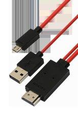 Hình ảnh Cáp MHL sang HDMI HDTV Hong Kong Electronics Adapter (Đen phối đỏ)