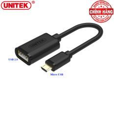 Hình ảnh Cáp OTG Chuyển Micro USB sang USB 2.0 Unitek Y-C438 (Đen)