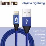 Chiết Khấu Sản Phẩm Cap Sạc Bọc Vải Lamino Phylina Lightning Dai 1M Cho Iphone Va Ipad Xanh Dương