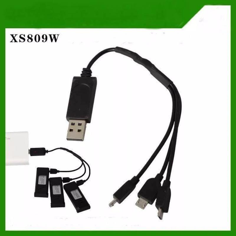 Cáp Sạc Đa Năng VISUO XS809HW(Sạc 3 Pin Cùng Lúc)