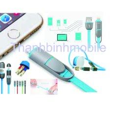 Bán Cap Sạc Day Rut Kingpad Cho Iphone 5 5S 5Se 6 6S Va Ipad Mini 4 Air Nhieu Mau Mới