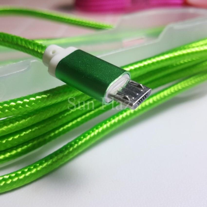 ►Cáp Sạc Micro USB Bọc Dù Siêu Bền◄Dây sạc cho Android, SAMSUNG - Tặng nút chống bụi tai nghe cho điện thoại-CV