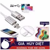 Giá Bán Cap Sạc Từ Hit Nam Cham 2 In 1 Cho Samsung Va Iphone Mau Trắng Con Quay