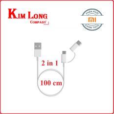 Bán Cap Sạc Xiaomi 2 Trong 1 Micro Usb Va Usb Type C 100Cm Hang Phan Phối Chinh Thức Trực Tuyến Trong Việt Nam