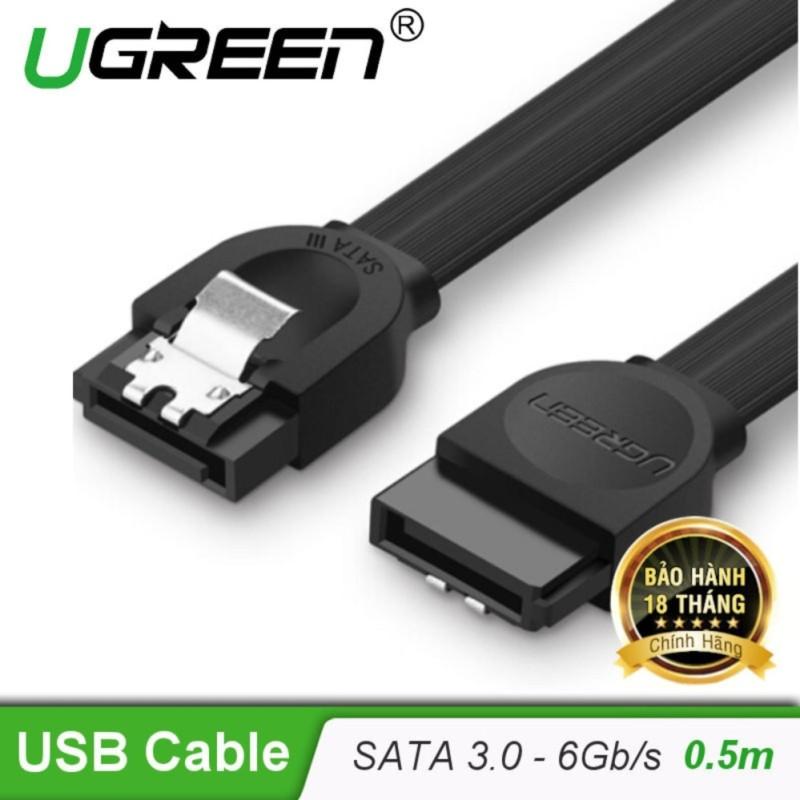 Bảng giá Cáp SATA 3.0 đầu thẳng truyền tốc độ cao 6Gb/s dài 0.5m UGREEN US217 30796 - Hãng phân phối chính thức Phong Vũ