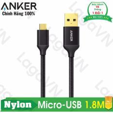 Bán Cap Sieu Bền Anker Nylon Micro Usb 1 8M Đen Nhập Khẩu