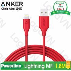 Bán Cap Sieu Bền Anker Powerline Lightning 1 8M Đỏ Trực Tuyến