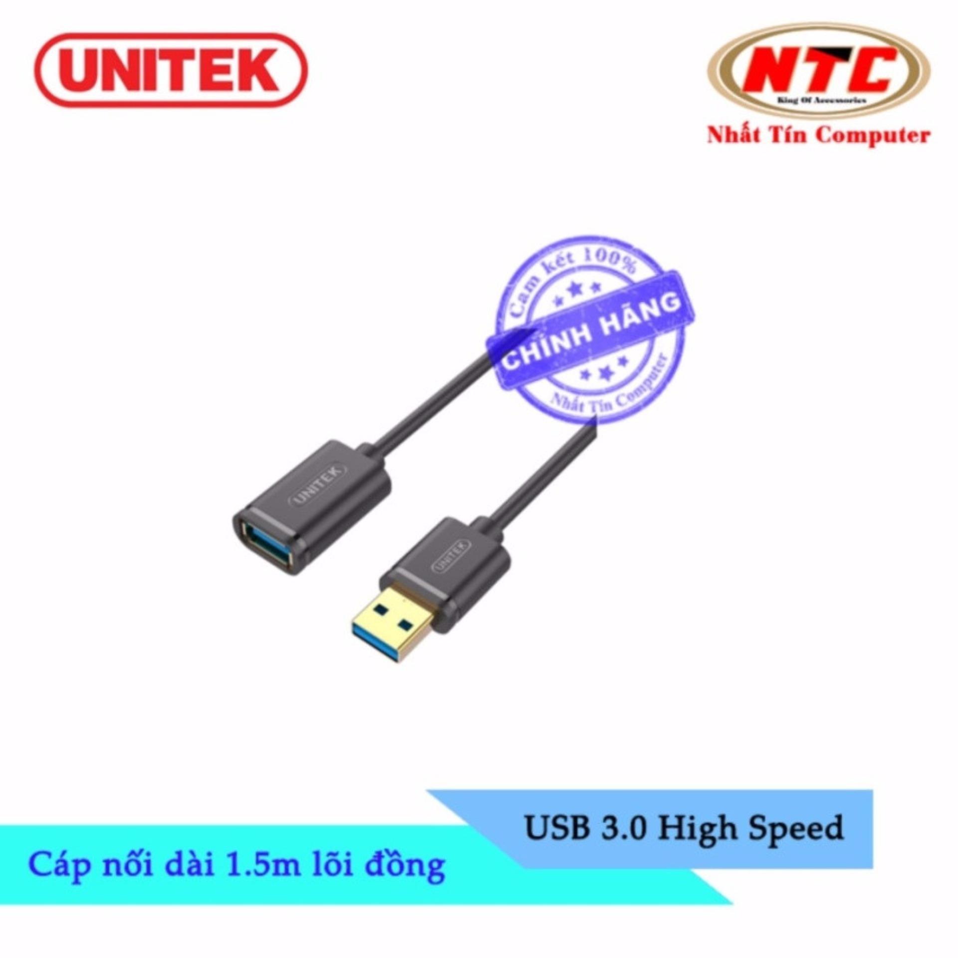 Hình ảnh Cáp USB nối dài 3.0 Unitek Y-C 458GBK - dài 1.5m (Đen)