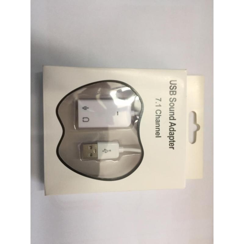 Bảng giá Cáp USB Sound Adapter cho laptop, PC 7.1 Channel (Trắng) Phong Vũ