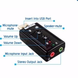 Card âm thanh 3D USB 7.1 (Đen) thumbnail