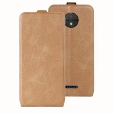 Giá Bán Case For Motorola Moto C Plus Crazy Horse Pattern Leather Case Brown Intl Tốt Nhất
