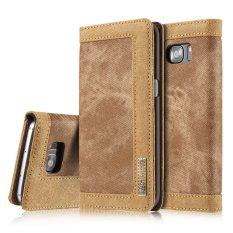 Hình ảnh BAO DA CASEME Vải Da Bao da Đựng Thẻ cho Samsung S7 Edge G935-Nâu-quốc tế