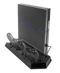 Chân đế quạt tản nhiệt cho máy Sony PS4 kết hợp sạc cho 2 tay cầm PS4 (Đen) Nhật Bản