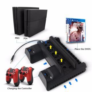 Chân đế quạt tản nhiệt + sạc tay cầm 3 in 1 cho PS4 PS4 Slim và Ps4 Pro thumbnail