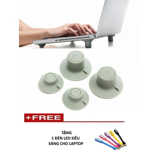 Bảng giá Chân đế tản nhiệt hiệu quả cho laptop ( xám)  + Tặng 1 đèn led siêu sáng Phong Vũ