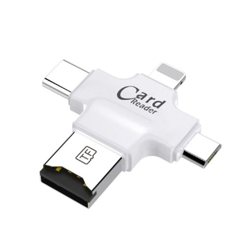 Bảng giá CỔ VŨ Đa Năng 4 trong 1 Giao Diện Đầu Đọc Thẻ USB Loại C OTG Đọc Thẻ TF-quốc tế Phong Vũ