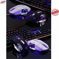 Chuột 6D chuyên Game NTC G502 Led đa màu - DPI 3200 (Trắng)