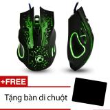 Mã Khuyến Mại Chuột Chơi Game 7Led Estone X9 Design Đen Tặng 01 Ban Di Chuột Hồ Chí Minh