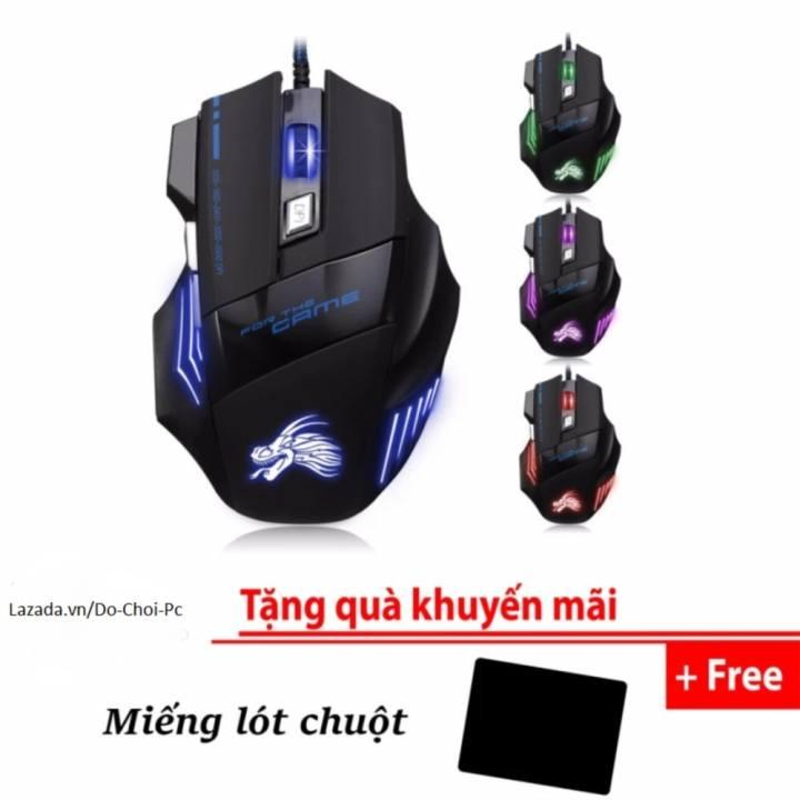 Chuột chơi game có dây IMICE X3 2018 (Led đổi màu)-Hàng phân phối chính hãng + tặng miếng lót chuột