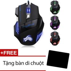 Hình ảnh Chuột chơi game có dây Dragon X3 (Đen phối xanh)-Hàng phân phối chính hãng + Tặng miếng lót chuột
