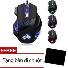Hình ảnh Chuột chơi game có dây Dragon X3 (Đen) + Tặng miếng lót chuột
