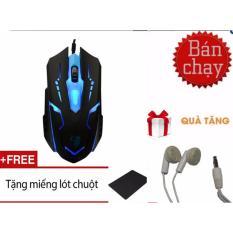 (XEM VIDEO) Chuột chơi game Fz X15 + Tặng miếng lót chuột+ tai nghe nhét tai