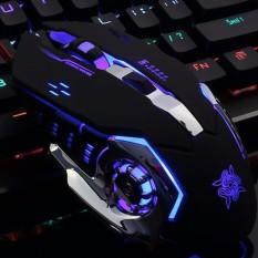 Hình ảnh Chuột chơi Game GearLord G502 có đèn LED đổi màu cực đẹp (Đen)
