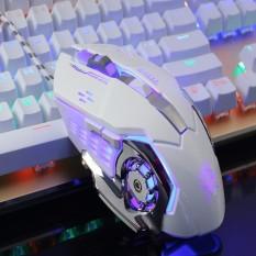 Hình ảnh Chuột chơi Game GearLord G502 có đèn LED đổi màu cực đẹp (Trắng)