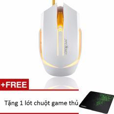 Chuột Chơi Game Led Co Day Nut Omron James Donkey Trắng Tặng Lot Chuột Game Thủ Chiết Khấu Vietnam