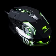 Hình ảnh Chuột chuyên game 6D - LED 7 màu X9 (Màu đen)