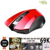 Bán Chuọt Dành Cho Game Thủ Limeide G2 Wireless Optical Mouse Đỏ Tặng Moc Khoa Đoi Thời Trang Limeide Nguyên