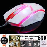 Bán Mua Trực Tuyến Chuột Day New4All Xsun Xs80 Gaming Mouse Đen Led 7 Mau Tặng Moc Khoa Tinh Yeu 69K