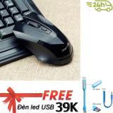 Ôn Tập Chuọt Game 2 4Ghz Limeide G2 Wireless Optical Mouse Đỏ Tặng Đen Led Cổng Usb Mới Nhất