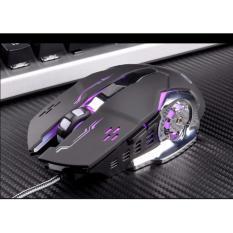Chuột game thủ cực bền thiết kế độc lạ có LED nhiều màu (Đen Bạc)