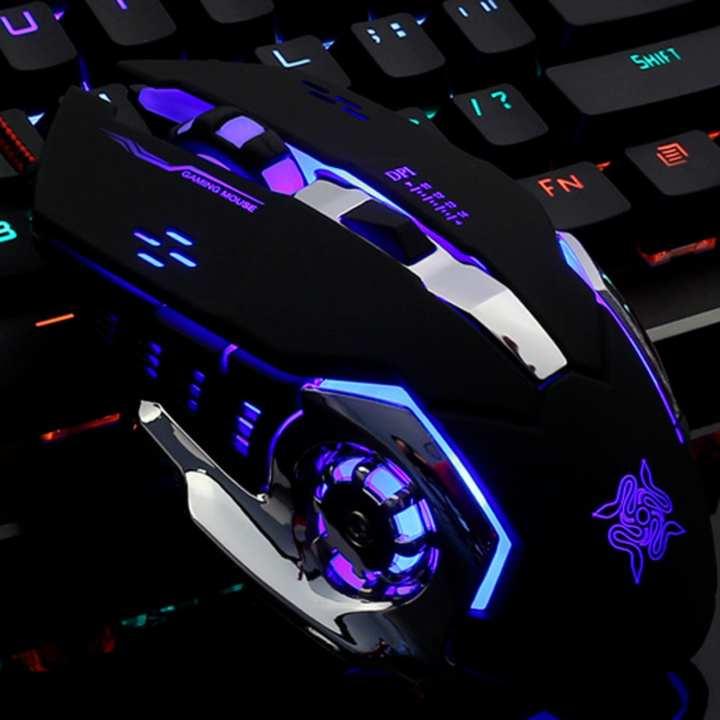 Chuột Game thủ DeTeK GearLord G502 có đèn LED đổi màu cực đẹp (Đen)